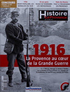 Magazine Histoire - La Provence, mai et juin 2016, n4, Première de Couverture