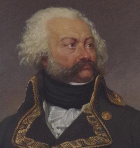 Cravate noire et jabot du XIXe s.