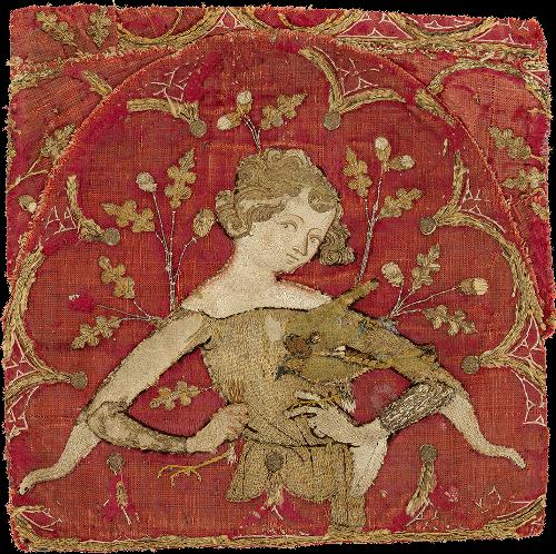 L'art en broderie au Moyen-Âge